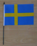Sweden Country Hand Flag - Medium.